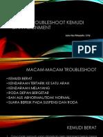 MATERI TROUBLESHOOT KEMUDI DAN ALIGNMENT.pptx