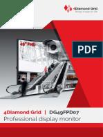 4DIAMOND GRID DG49FPD07 49 inch UHD MONITOR