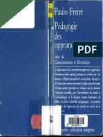 Freire, Paulo - Pedagogie des Opprimes Suivi de Conscientisation et Revolution