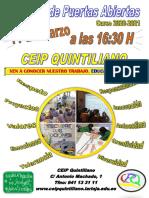 Jornada de Puertas Abiertas 20-21 (CEIP Quintiliano)