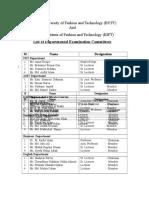 Exam Committees
