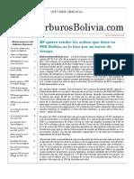 Hidrocarburos Bolivia Informe Semanal Del 29 Nov Al 05 Dic 2010