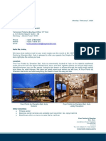 Proposal Letter  -  PT. Asuransi Jiwa Tugu Mandiri on 12 - 15 February 2020