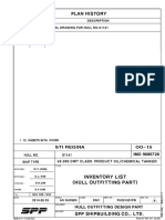 OO-15 INVENTORY LIST (HULL OUTFITTING PART)