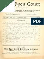 Ciencia y Religion - ( Varios TEMAS ) - The Open Court Mag - (534)