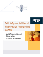 Sprachen des NMO Lehnwoerter und Kulturgeschichte2018