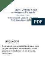 Concepção de língua e linguagem 1 ano