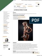 Programme entrainement sèche & perte de poids Femme