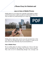 Uses of Mobile Phones Essay for Students and Children