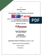Project-Report-on-Jio-vs-Airtel