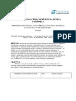 REMOÇÃO DO ÁCIDO CAPRÍLICO DA RESINA CATIÔNICA