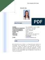 HOJA DE VIDA GENERAL YULY ALEXANDRA GALVIS GOMEZ