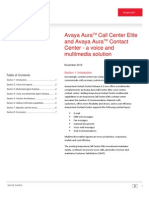 Avaya Aura Contact Center and Call Center Elite