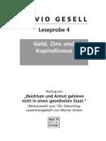 Gesell-Leseprobe 4 - Geld Zins und Kapitalismus