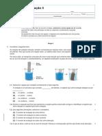 Teste de Avaliação 1 Reações de oxidação-redução (enunciado)