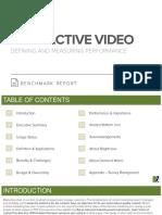 ANA Interactive Video Benchmark Report