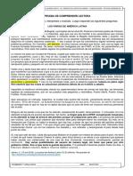 Ficha evaluada de comprensión lectora 1