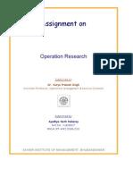 POM / OR Assignment