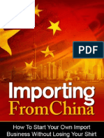 Importing From China eBook