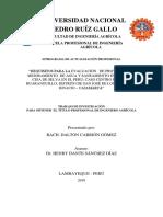 Carrion, Dalton. 2019. Mejoramiento de agua Huaranguillo, San Jose de Lourdes. Tesis UNPRG
