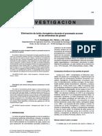 Eliminación de acido clorogenico