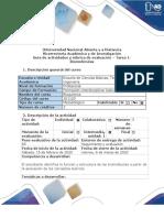 Guía de actividades y rúbrica de evaluación - Tarea 1 - Biomoléculas