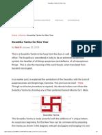 Swastika Yantra for New Year