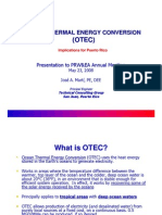 OTEC Implication for Puerto Rico