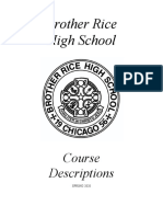 Brother Rice Course Descriptions 2019-2020 School Year