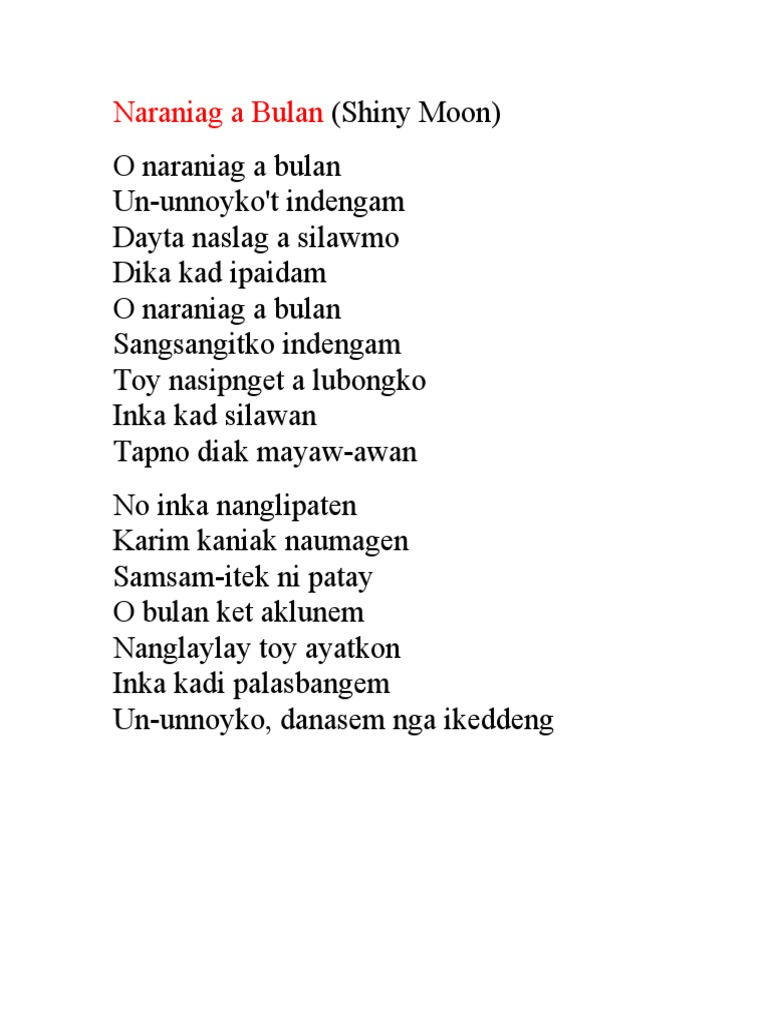 Ilocano Song and Poems