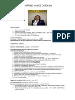 Curriculum YANICE MARTINEZ 2018