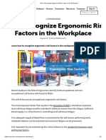 Recognize Ergonomic Risk Factors in the Workplace