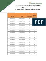 B01. Junior Engineer (Power) Electrical (BPS-17)