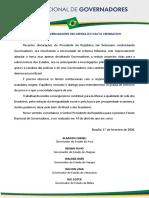 Carta Em Defesa Do Pacto Federativo