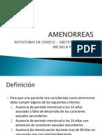 14 AMENORREA PRIMARIAS Y SECUNDARIAS