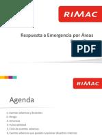 Respuesta a Emergencias por areas - Rimac