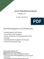 Kontrastive Medienanalyse.Einführung