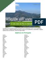 Adjetivos em português