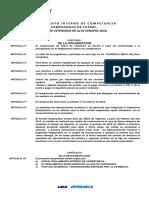 REGLAMENTO INTERNO DE COMPETENCIA LIGA DE VETERANOS