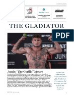 "Gladiator Fight News Justin ""The Gorilla' Moore"
