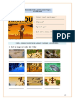 FLE A1 enfants activité compréhension vidéo kirikou-animaux-afrique