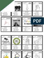 DELF A1 A2 40 flashcards passé composé verbes irreguliers
