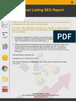 Product Listing SEO Report