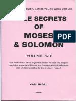 Bible Secrets of Moses and Solomon Vol2