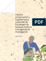Hacia la conservación y la gobernanza sostenible de los paisajes de bosques andinos (Una agenda de investigación)