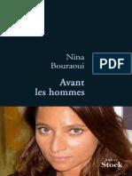 Bouraoui, Nina - Avant les hommes