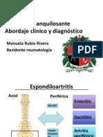 Espondilitis anquilosante clínica