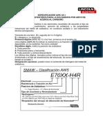 Especificaciones AWS A5.1 y 5.5