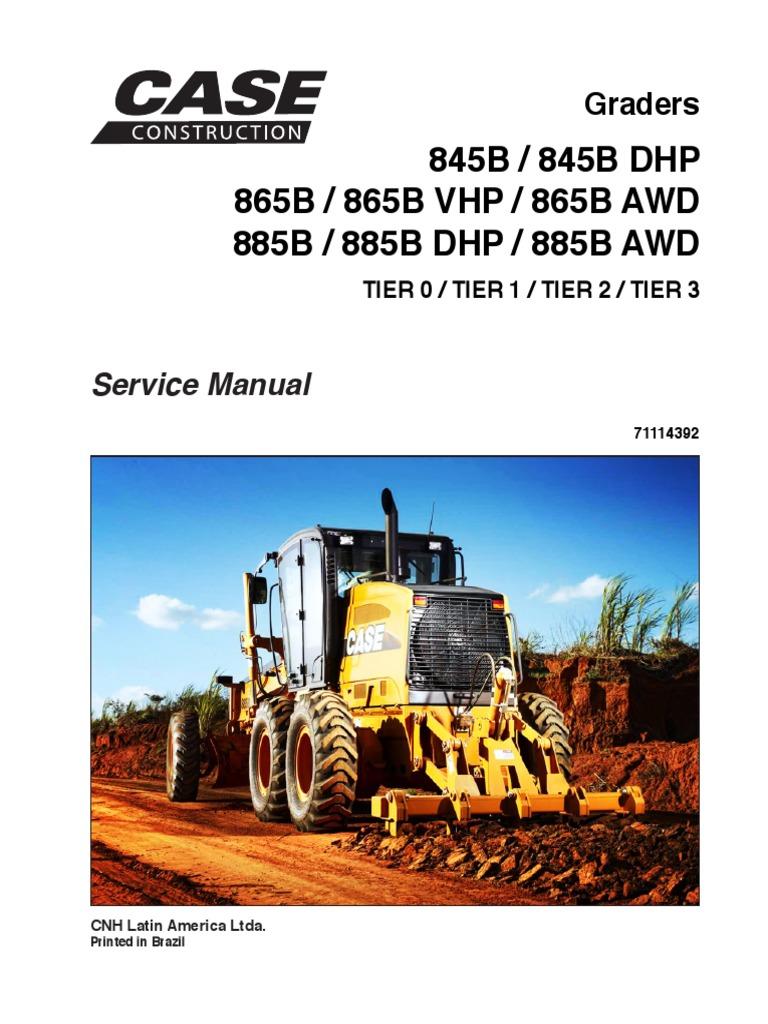 Grader.B Service Manual PDF   PDF   Motor Oil   Four Wheel Drive