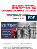AGRESSIVE SOUL WINNING AND STRATEGIES TO FOLLOW UP UNTILL MATURE DISCIPLE